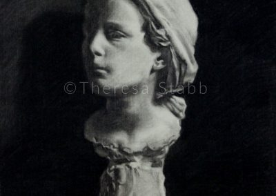 Charcoal cast drawing on paper Neapolitan Fisher Boy