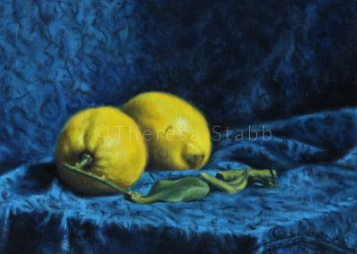 Still Life with Lemons, Oil on canvas, 2016. SOLD.