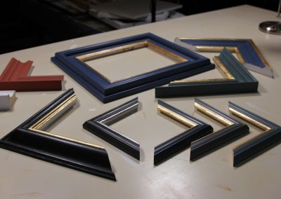 Handmade frame chevrons gilded and painted