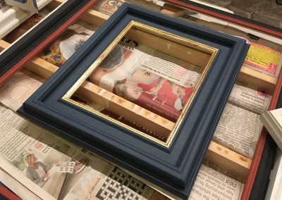Handmade frame gilded and painted