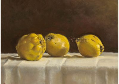 Quinces, Oil on board, 2016. NFS.