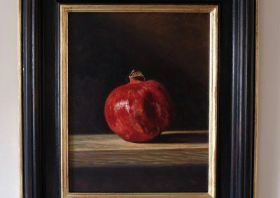 Pomegranate, Oil on board, 2018.