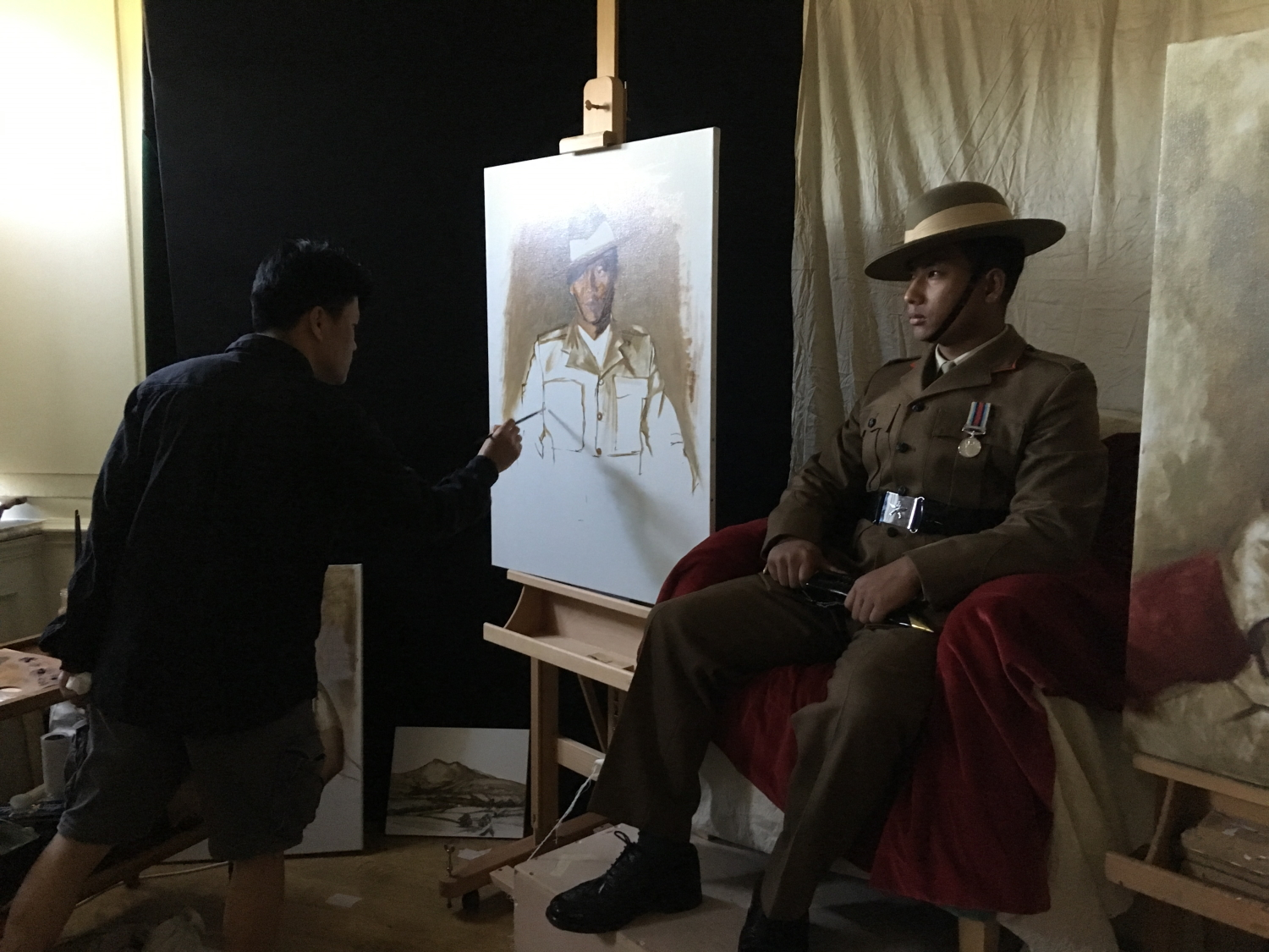 Painting Ghurka Soldier